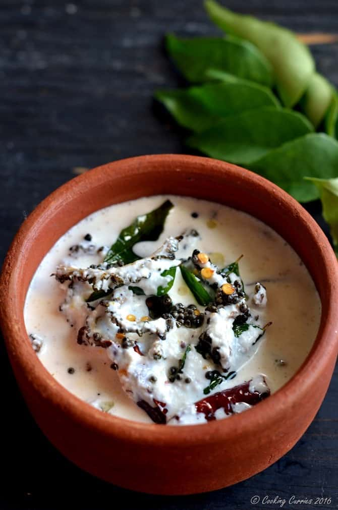 Pavakka Kichadi - Crispy Bitter Gourd in a Coconut Yogurt Sauce - Kerala Sadya Recipe (2)