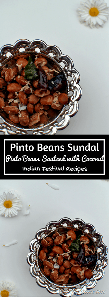 Pinto Beans Sundal - A Navaratri Recipe - Indian Festival Recipes