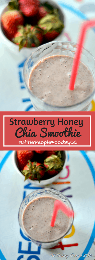 Strawberry Honey Chia Smoothie - Little People Food - Cooking Curreis
