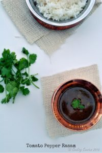Tomato Pepper Rasam ~ Indian version of Hot and Sour Soup