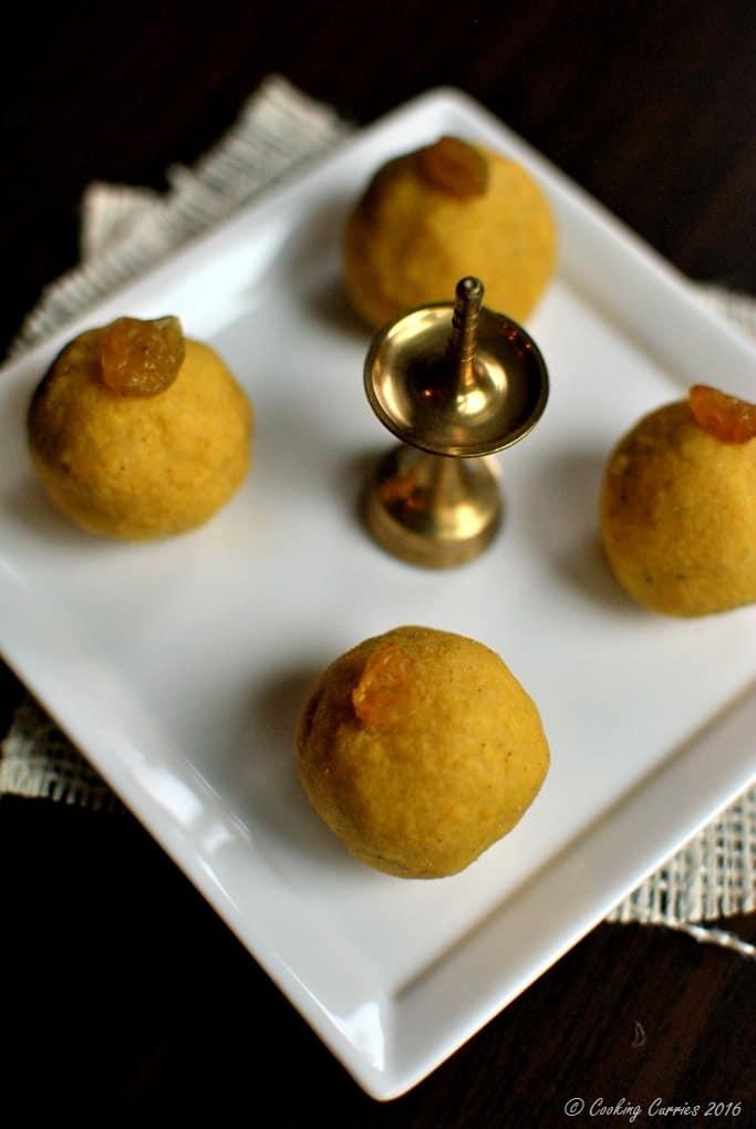 Besan Laddoo with Pumpkin Spice - Diwali Recipes - www.cookingcurries.com (4)