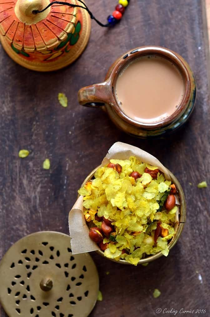 Chivda -Chiwda - Savory Beaten Rice Flakes with Peanuts - Indian Festival Recipes - Diwali Recipes - www.cookingcurries.com (4)