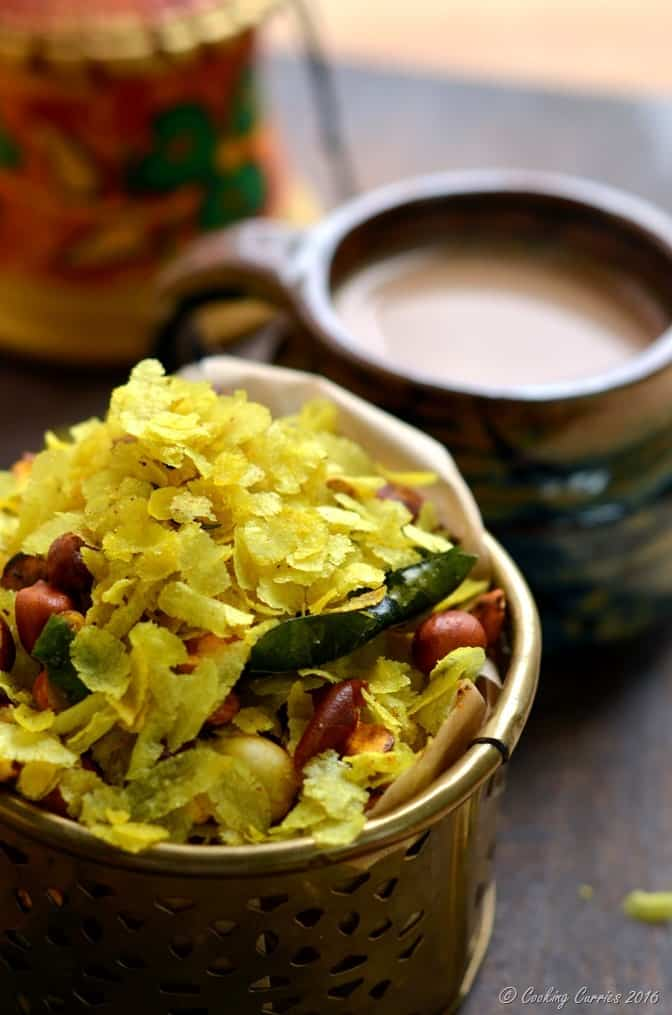 Chivda -Chiwda - Savory Beaten Rice Flakes with Peanuts - Indian Festival Recipes - Diwali Recipes - www.cookingcurries.com (3)