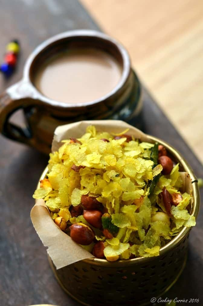 Chivda -Chiwda - Savory Beaten Rice Flakes with Peanuts - Indian Festival Recipes - Diwali Recipes - www.cookingcurries.com (5)