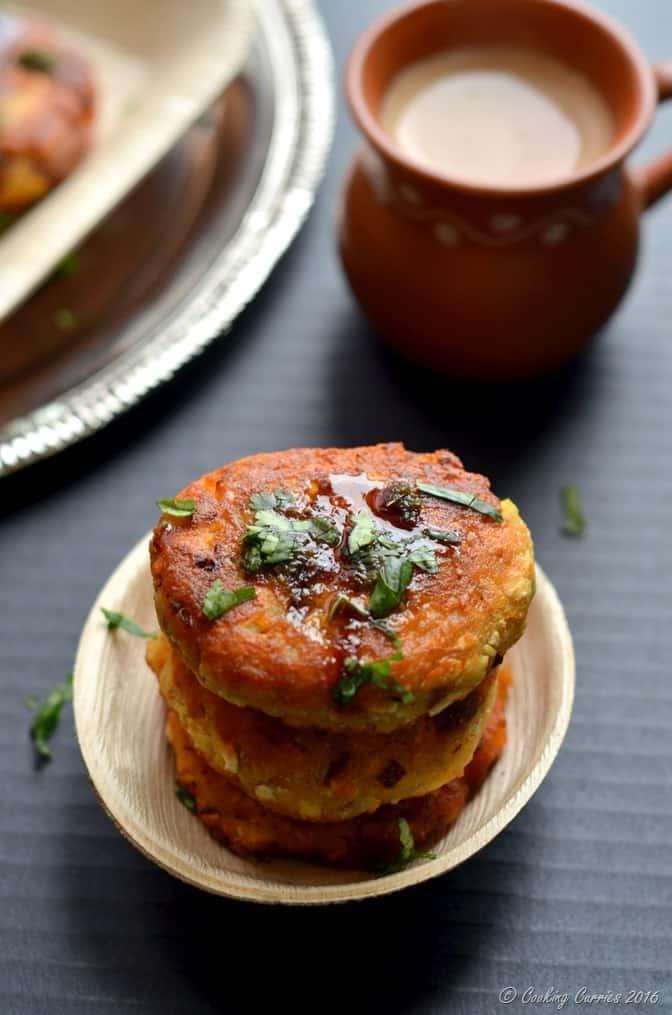 Paneer Butternut Squash Tikkis - Appetizers - Indian Food - Vegetarian - www.cookingcurries.com (5)
