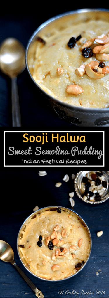 Sooji Halwa - Sweet Semolina Pudding - indian Festival recipes - Diwali, Navarathri