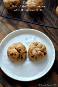 Eggless Chocolate Chip COokies with Condensed Milk