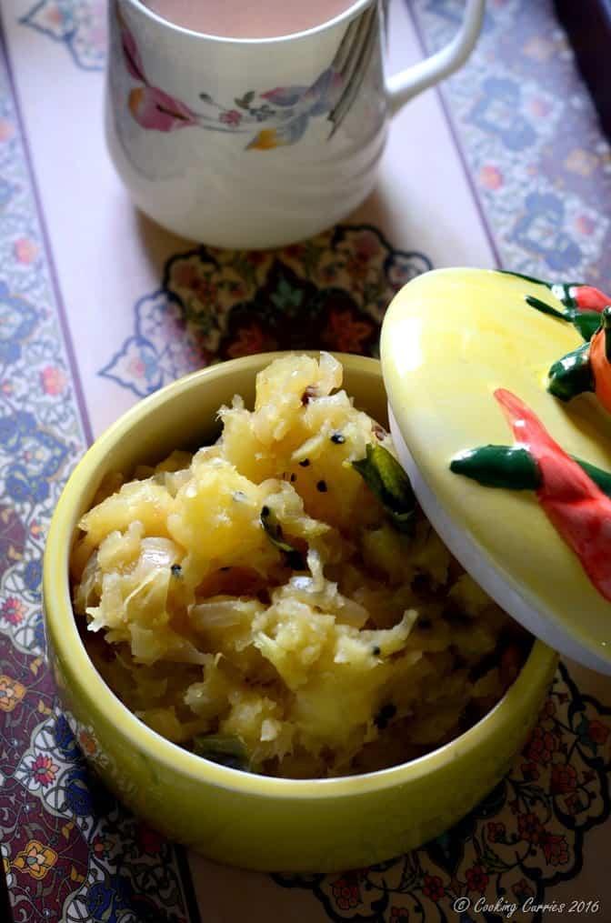 Kerala Kappa Masala -Kerala Style Spiced Tapioca Mash