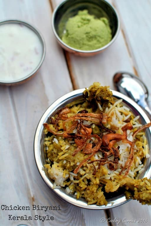 Chicken biryani with biryani chammanthi coconut mint cilantro dry chicken biryani with biryani chammanthi coconut mint cilantro dry chutney cooking curries forumfinder Image collections