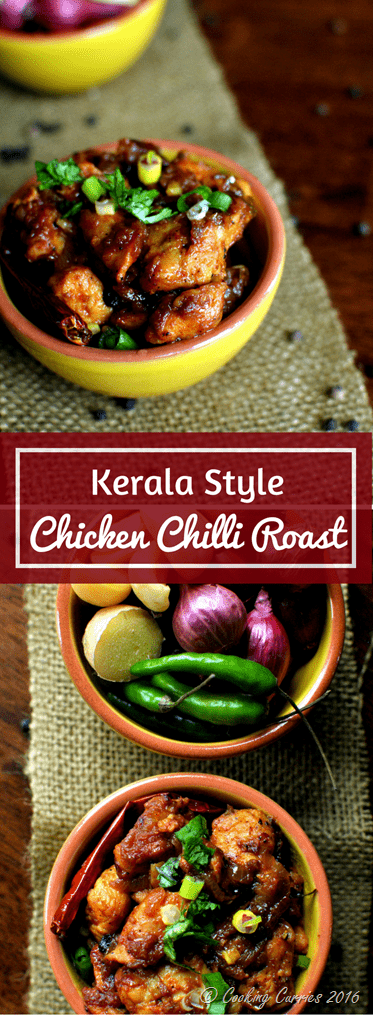 Kerala Style Chicken Chilli Roast