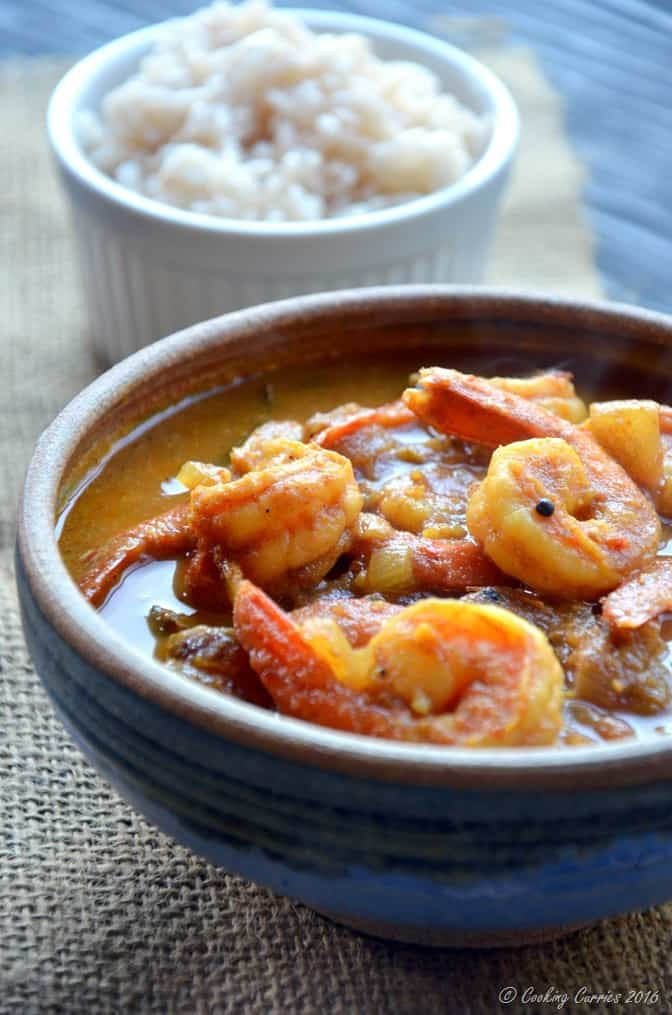Kerala Style Prawns Tomato Curry - Shrimp Tomato Curry (2)