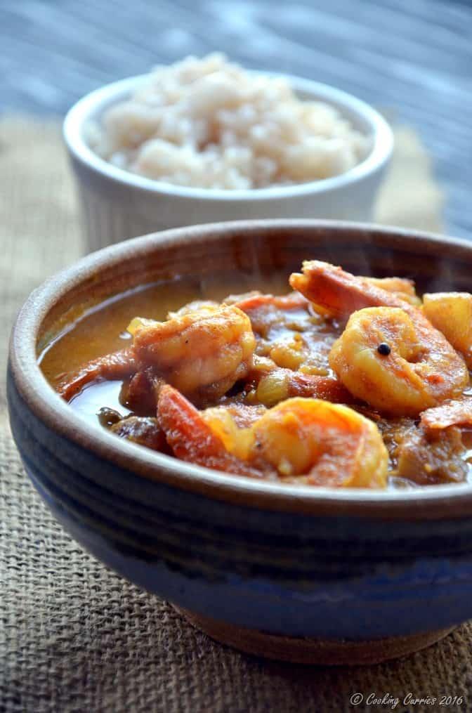 Kerala Style Prawns Tomato Curry - Shrimp Tomato Curry (4)
