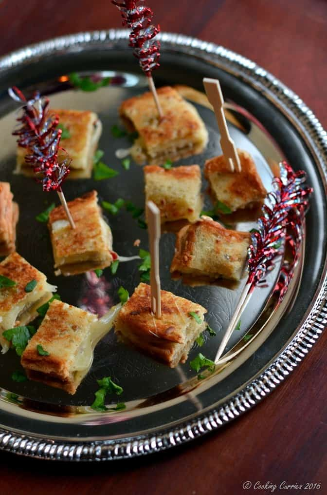 Truffle Grilled Cheese Sandwich Bites - Party Appetizer (3)