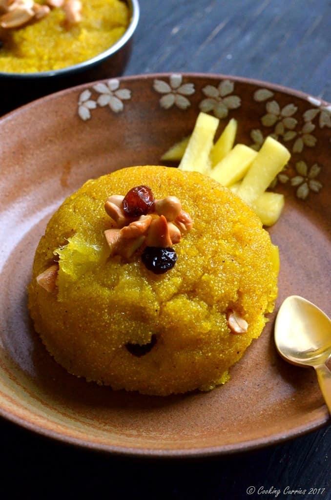 Mango Kesari - Mango and Semolina Pudding (2)