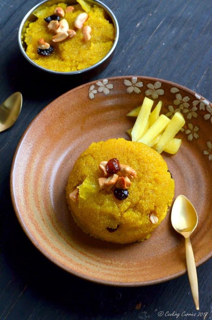 Mango Kesari - Mango and Semolina Pudding (3)