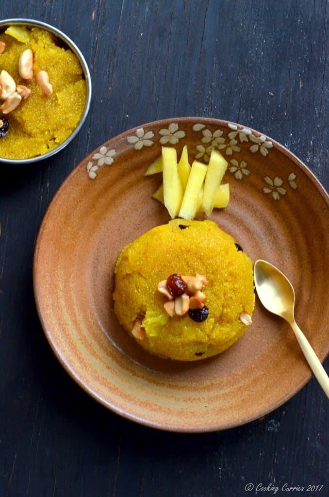 Mango Kesari - Mango and Semolina Pudding (4)