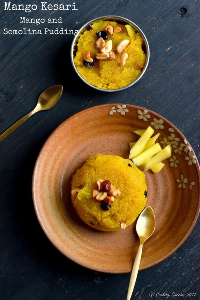Mango Kesari - Mango and Semolina Pudding
