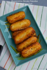 Mozzarella Sticks Pakodas | Little People Food