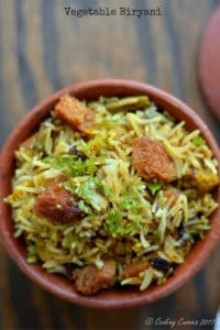 Vegetable Biryani – Kerala Style