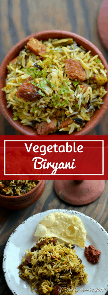 Vegetable Biryani - www.cookingcurries.com