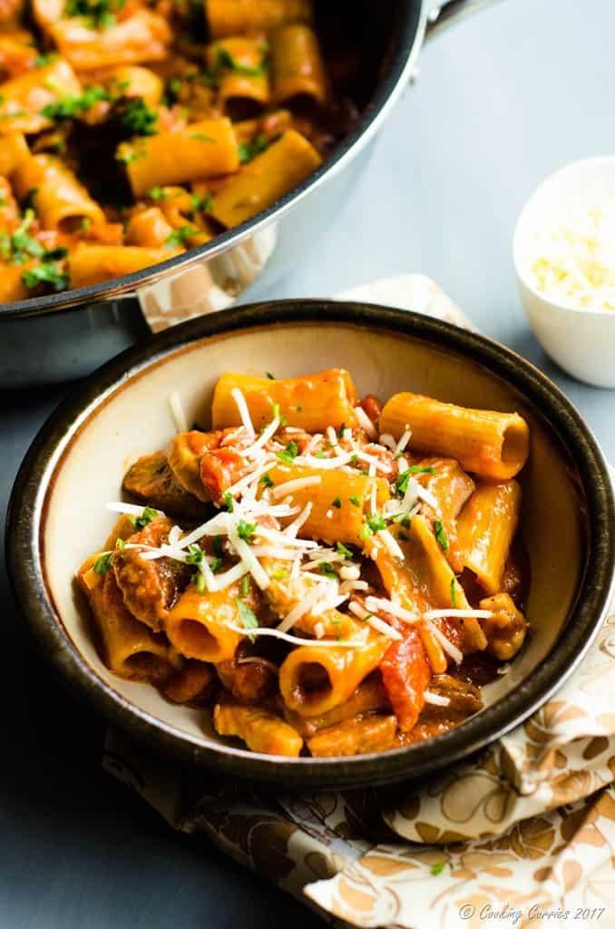 One-Pot Spicy Chicken and Chorizo Rigatoni (1 of 6)