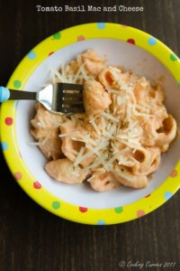 Tomato Basil Mac and Cheese | Little People Food