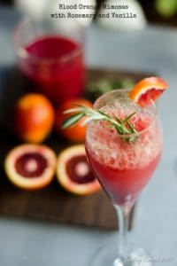 Blood Orange Mimosa with Rosemary and Vanilla