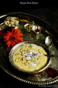 Khoya Rice Kheer – Rice and Milk Pudding
