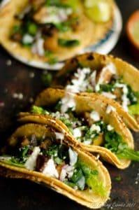 Potato Roasted Poblano Tacos