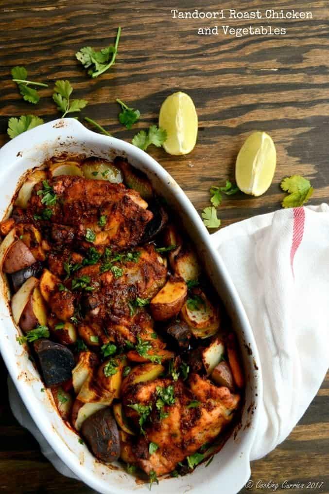 Tandoori Roast Chickenand Vegetables