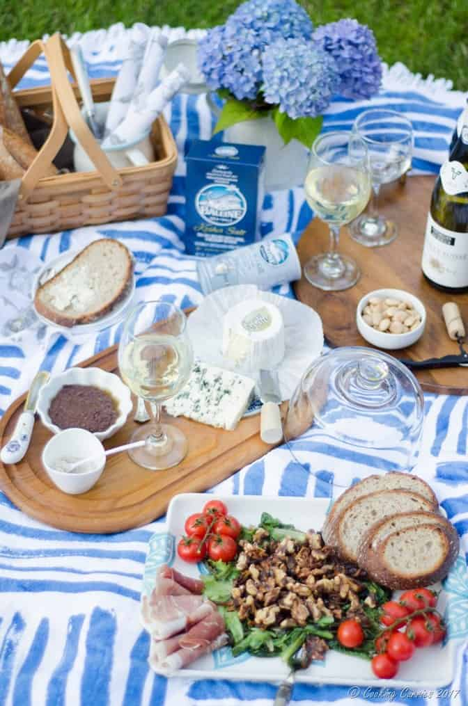 French Backyard Picnic - Warm Mushroom Salad Recipe (5 of 10)