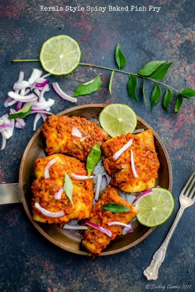 Kerala Style Spicy Baked Fish Fry