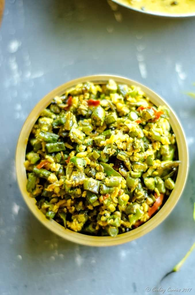 Achinga Payar Thoran - Yard Long Beans Saute with Coconut (2 of 4)