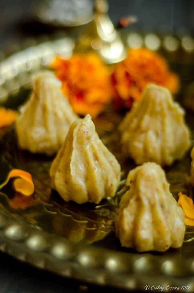 Coconut Khoya Modak with Chocolate Chip Filling (5 of 5)