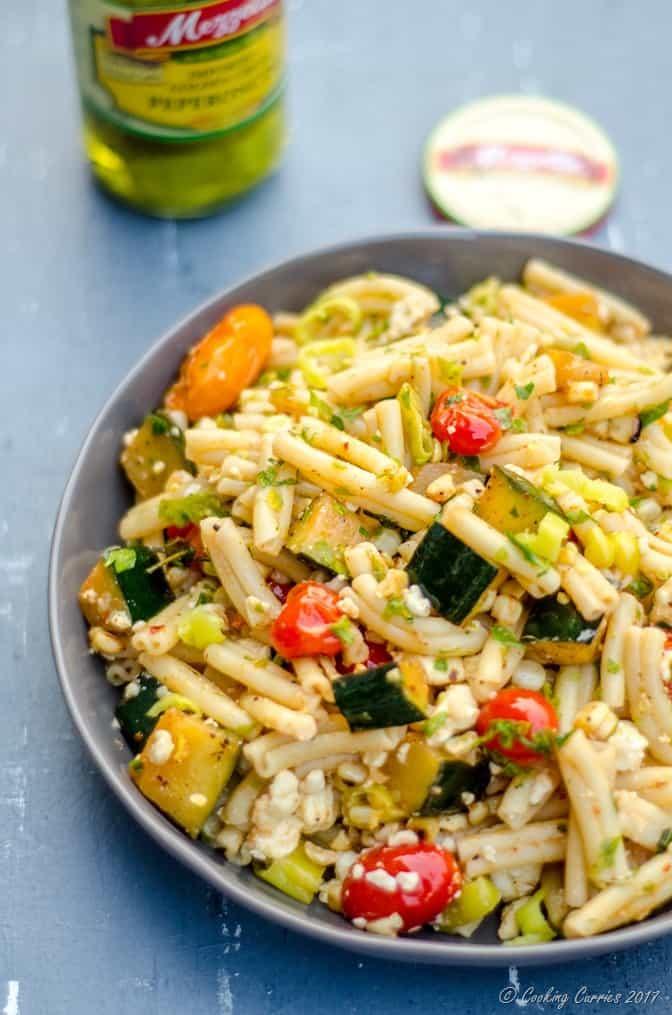 Mediterranean Pasta Salad with Grilled Summer Vegetables (1 of 7)