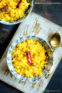 Kadala Parippu Sundal – Yellow Lentils With Coconut and Spices