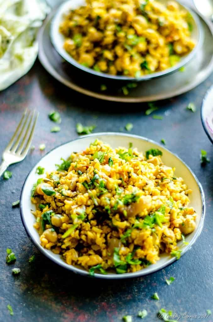Palak Chole Pulao - Spinach and Chickpea Brown Rice Pulao (3 of 10)