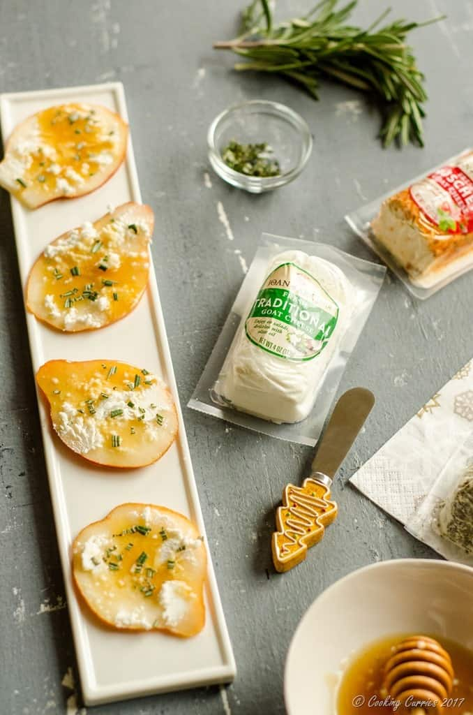 Pear Crostini with Goat Cheese, Honey and Rosemary (3 of 4)