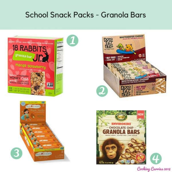 School Snack Packs - Granola Bars