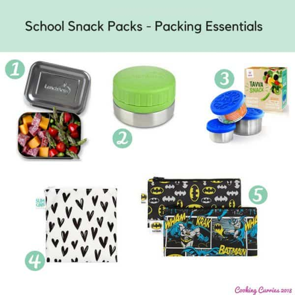 School Snack Packs - Packing Essentials