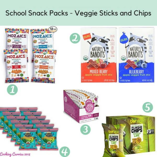 School Snack Packs - Veggie Sticks and Chips