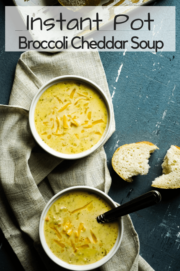 Instant Pot Broccoli Cheddar Soup - Paner Bread Copycat Version