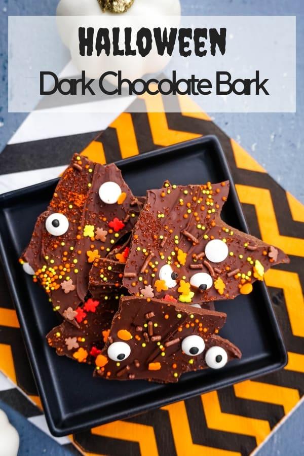 Halloween Chocolate Bark Candy Treat