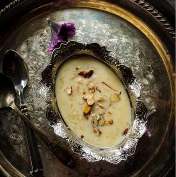 Instant Pot Saffron Kheer - Instant Pot Saffron Rice Pudding
