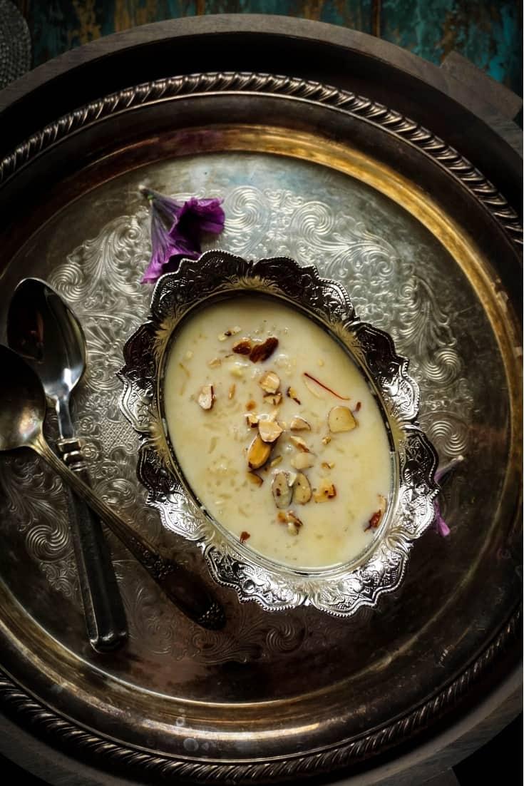 Instant Pot Saffron Rice Kheer