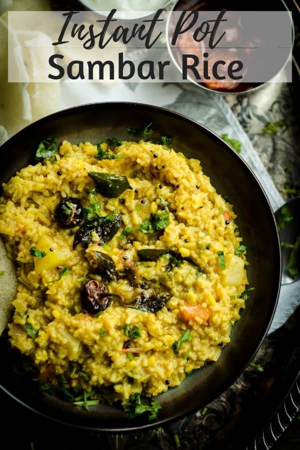 Instant Pot Sambar Rice - Vegetarian, Vegan, Gluten Free, Indian Food