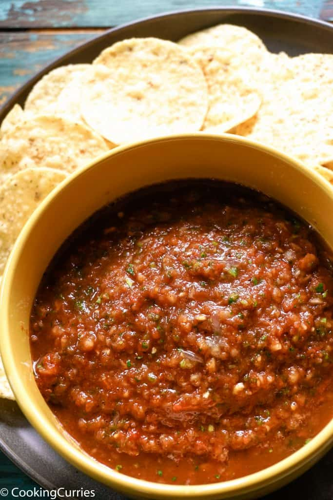 Restaurant Style Tomato Salsa