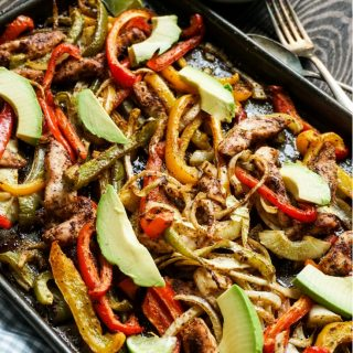 Sheet Pan Chicken Fajitas - Whole30, Paleo