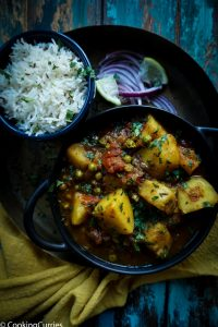 Instant Pot Aloo Matar - Instant Pot Potato and Green Peas Curry