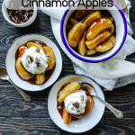 Image with text on top for Instant Pot Cinnamon Apples